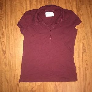 Aeropostale Burgundy Polo Shirt